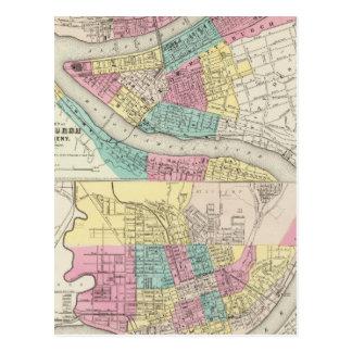 The Cities Of Pittsburgh Allegheny Cincinnati Postcard