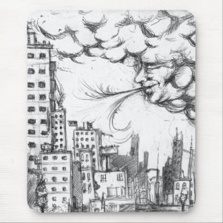 the city blows mouse pad