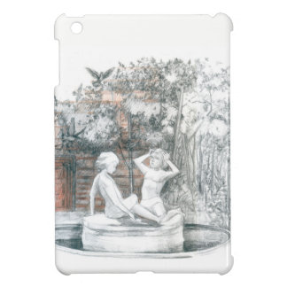 the city fountain with figurines of girls case for the iPad mini