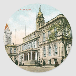 """""""The City Hall"""" New York Stickers"""
