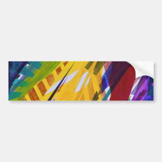 The City II - Abstract Rainbow Streams Bumper Sticker