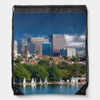 The city of Boston and Charles river Backpack
