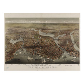 The City of Boston by Parsons & Atwater 1873 Postcard