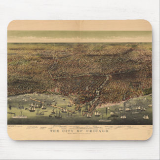 The City of Chicago by Ives (1892) Mouse Pad