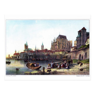 The City of Cologne, engraved by M.J. Starling Postcard