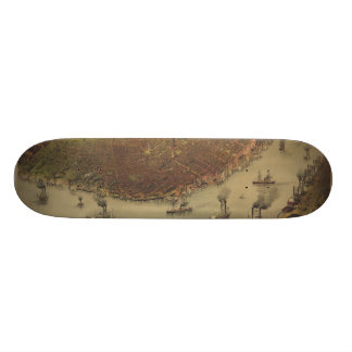 The City of New Orleans Louisiana from 1885 Skate Board Deck