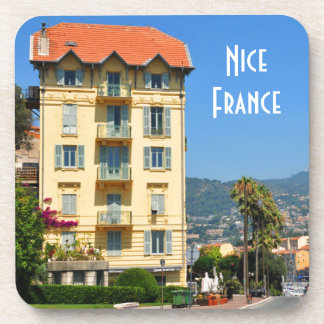 The city of Nice on French Riviera Beverage Coaster