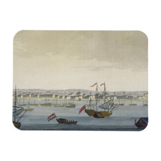 The City of Paramaribo (colour engraving) Magnets