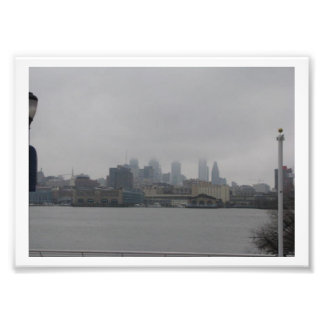 The City of Philadelphia Hidden by Clouds Photo Print