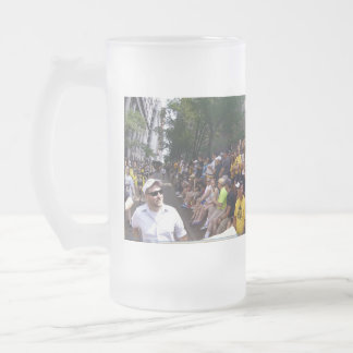 The City of Pittsburgh Thanks Dave B. Frosted Glass Beer Mug