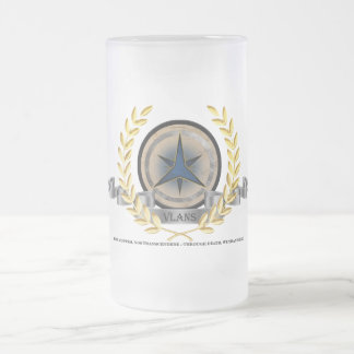 The City of Vlans Frosted Glass Beer Mug