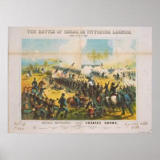 The Civil War Battle of Shiloh Pittsburg Landing Poster