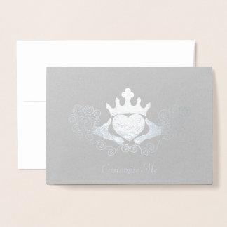 The Claddagh (Silvery) Foil Card