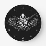The Claddagh (White) Round Wall Clock