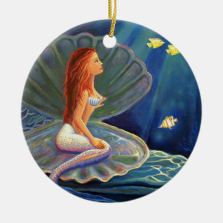 The Clamshell Mermaid Art Ornament
