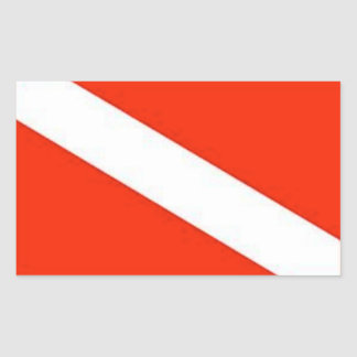 The Classic Diver Down Flag Sticker