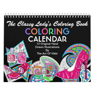The Classy Ladys Coloring Book | Color This Fun Calendar