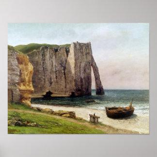 The Cliffs at Etretat, 1869 Poster