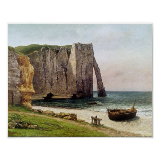 The Cliffs at Etretat, 1869 Poster