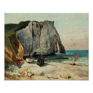 The Cliffs of Etretat, the Port of Avale Poster