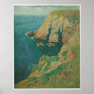 The Cliffs of Stang Ile de Croix Henry Moret Posters