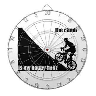 The Climb Is My Happy Hour Dartboard