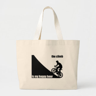 The Climb Is My Happy Hour Large Tote Bag