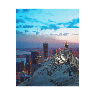 The Climb to Success Canvas Print