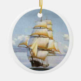 The Clipper Flying Cloud Ceramic Ornament