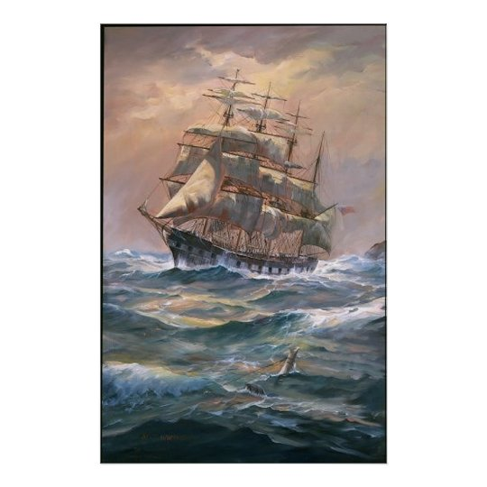 The Clipper 'Placilla' Round - Framed Print