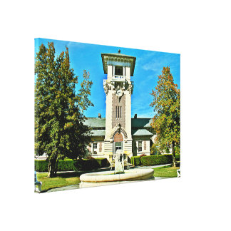 """The Clock Tower (23.09"""" 16"""" x 0.75) Canvas Print"""