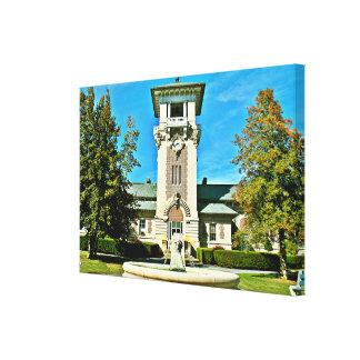 "The Clock Tower (35.42"" x 24"" x 1.5"") Canvas Print"