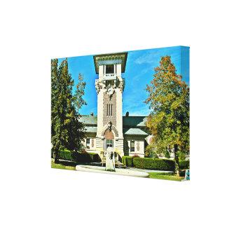"The Clock Tower (36"" x 23.70"" x 2.5"") Canvas Print"