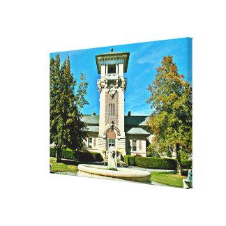 "The Clock Tower (46.99"" x 32.43"" x 1.5"") Canvas Print"