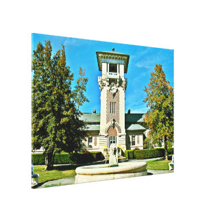 """The Clock Tower (48.49"""" x 33.93) Canvas Print"""