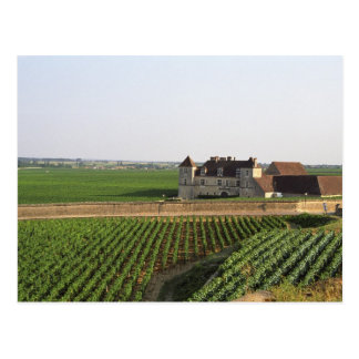 The Clos de Vougeot 16th century monastery and Postcard