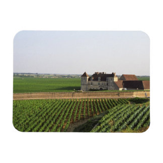 The Clos de Vougeot 16th century monastery and Rectangular Photo Magnet