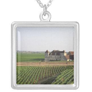 The Clos de Vougeot 16th century monastery and Square Pendant Necklace