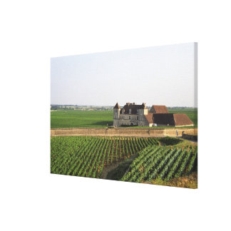 The Clos de Vougeot 16th century monastery and Stretched Canvas Print