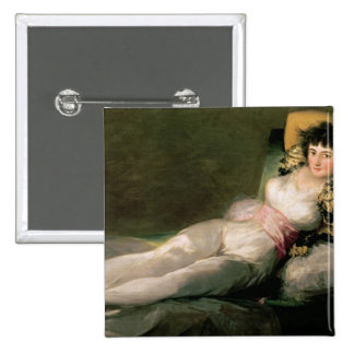 The Clothed Maja, c.1800 2 Inch Square Button