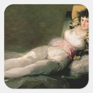 The Clothed Maja, c.1800 Square Sticker
