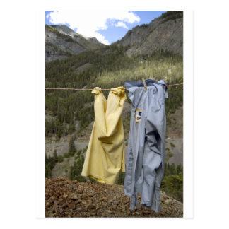 the clothesline postcard