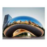 The Cloud Gate Sculpture In Chicago Postcard