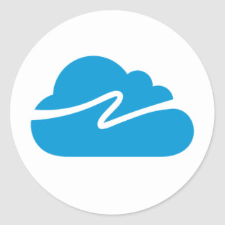 The Cloud Network Logo Classic Round Sticker