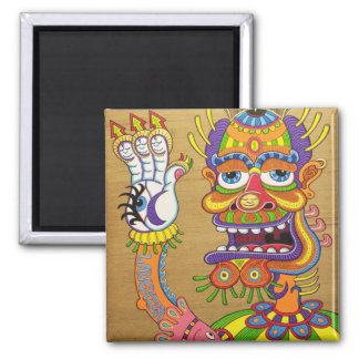 The Clown is a Wiseman in Disguise  Square Magnet