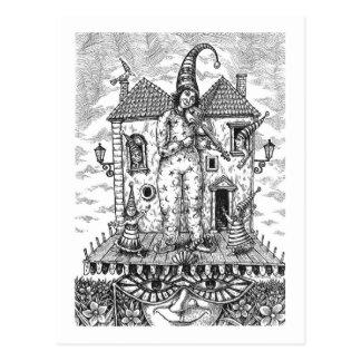 The Clown playing on violin Postcard