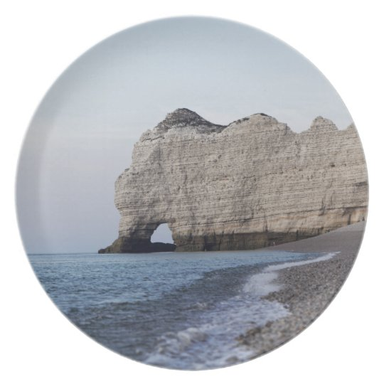 The coast at the Aval cliffs of Etretat Plate