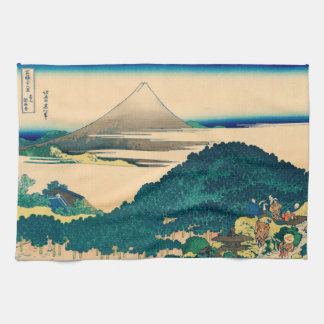 The coast of seven leagues in Kamakura Kitchen Towel
