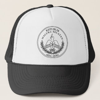 The coat of arms of the Republic of South Moluccas Trucker Hat