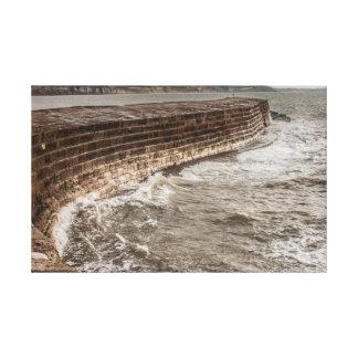 The Cobb seawall at Lyme Regis Canvas Print
